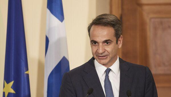 Greece's Prime Minister Kyriakos Mitsotakis - Sputnik International