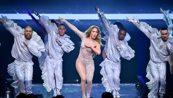 NEW YORK, NEW YORK - JULY 12: Jennifer Lopez performs onstage during the It's My Party Tour at Madison Square Garden on July 12, 2019 in New York City.  - Sputnik International
