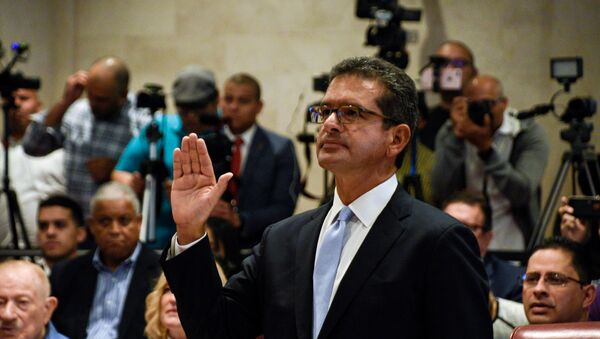 Pedro Pierluisi during a public hearing of the Commission of Government of the House of Representatives in San Juan - Sputnik International