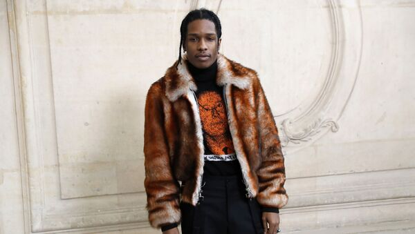 In this file photo taken on January 23, 2017 US rapper ASAP Rocky poses before the Christian Dior 2017 spring/summer Haute Couture collection on January 23, 2017 in Paris. - The Stockholm district court said on August 02, 2019, that US rapper A$AP Rocky should be released from custody, pending the verdict of an assault trial that has garnered global attention and stirred fan outrage - Sputnik International