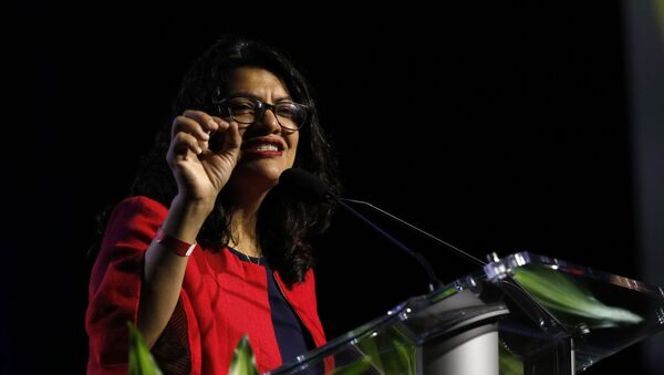 Representative. Rashida Tlaib (D, Michigan) addresses the NAACP's (National Association for the Advancement of Colored People) 110th National Convention at Cobo Center in Detroit, Michigan on July 22, 2019 - Sputnik International
