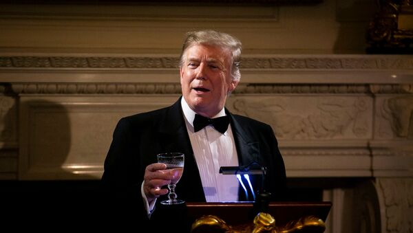 U.S. President Donald Trump speaks on U.S. and China trade negotiations at the Governors' Ball, in the State Dining Room of the White House, in Washington, U.S., February 24, 2019 - Sputnik International