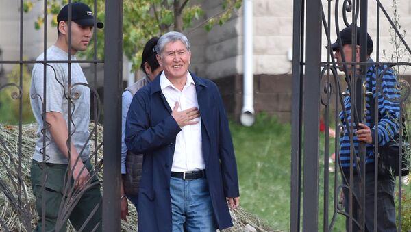 In this file photo taken on June 27, 2019 Former Kyrgyz president Almazbek Atambayev stands at the entrance to his residence in the village of Koi-Tash near the capital Bishkek - Sputnik International