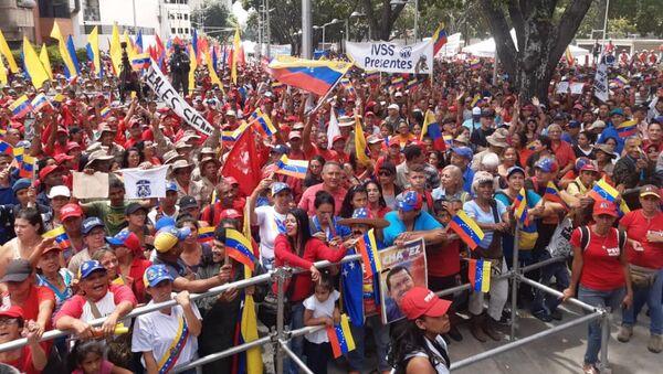 Pro-Maduro protest in Caracas against US sanctions  - Sputnik International
