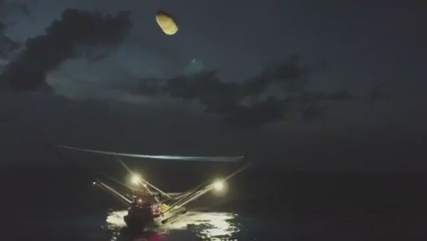 Spacex rocket fairing falls from space - Sputnik International