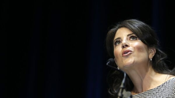 US former White house intern Monica Lewinsky attends at the Cannes Lions 2015, International Advertising Festival in Cannes, southern France, Thursday, June 25, 2015 - Sputnik International