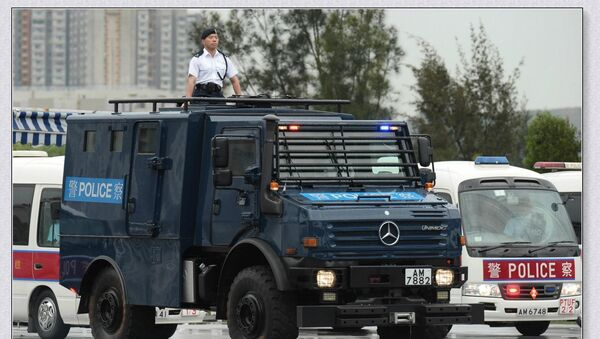 Mercedes-Benz Unimog U5000 armoured personnel carriern with special-designed for armed forces' 4WD system (made by France) / Ray Li, Facebook  - Sputnik International