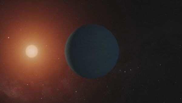 This still from a video shows illustrations of the seven Earth-size planets of TRAPPIST-1, an exoplanet system about 40 light-years away, based on data current as of February 2018. - Sputnik International