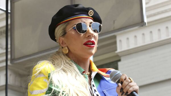 Lady Gaga participates in the second annual Stonewall Day honoring the 50th anniversary of the Stonewall riots, hosted by Pride Live and iHeartMedia, in Greenwich Village on Friday, June 28, 2019, in New York - Sputnik International