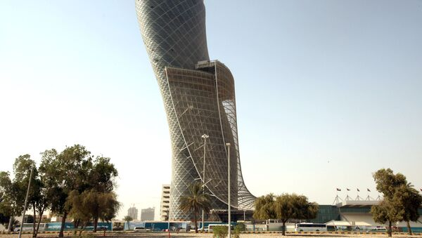 A view of the 160-metre Capital Gate tower, developed by the Abu Dhabi National Exhibition Company. File photo  - Sputnik International