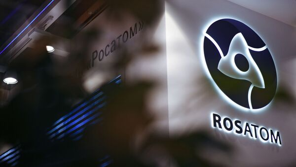 Russion Rosatom corporation's logo - Sputnik International