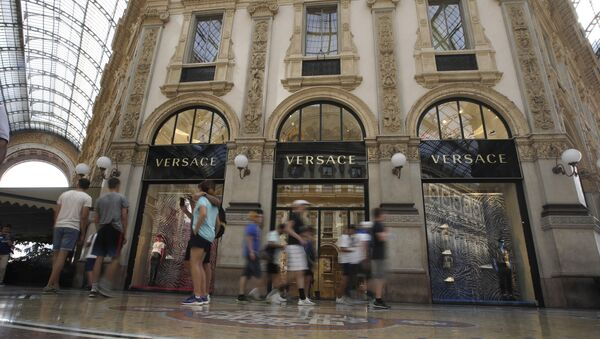 A view of the Versace fashion brand shop at the galleria Vittorio Emanuele II, in Milan, Italy, Thursday, Aug. 1, 2019.  - Sputnik International
