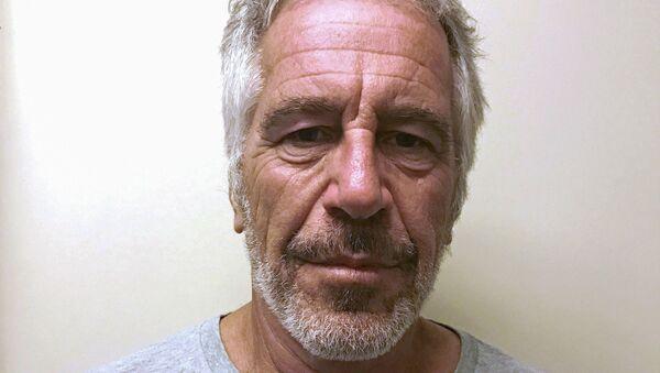 US financier Jeffrey Epstein appears in a photograph taken for the New York State Division of Criminal Justice Services' sex offender registry  - Sputnik International