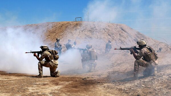 Australian and New Zealand coalition forces participate in a training mission with Iraqi army soldiers at Taji Base, north of Baghdad, Iraq, Wednesday, April 17, 2019. - Sputnik International