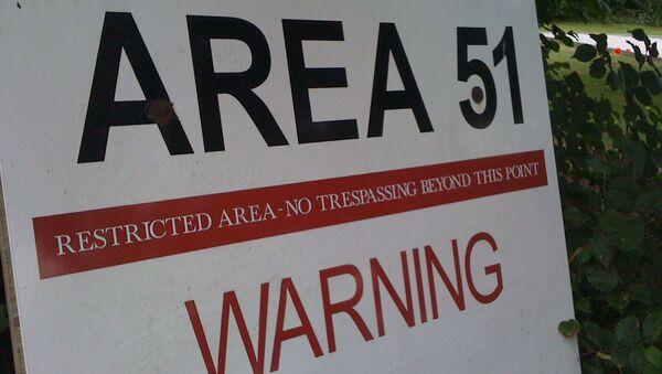 An Area 51 warning sign - Sputnik International