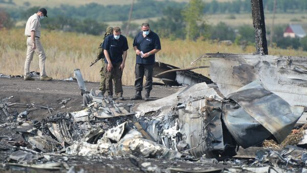 Organization for Security and Co-operation in Europe (OSCE) mission and aviation experts are working at the crash site of the Malaysian Boeing 777  - Sputnik International