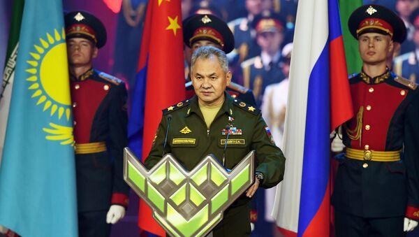 Sergei Shoigu takes part in the closing ceremony  of the 5th International Army Games 2019, Russia, Kubinka - Sputnik International
