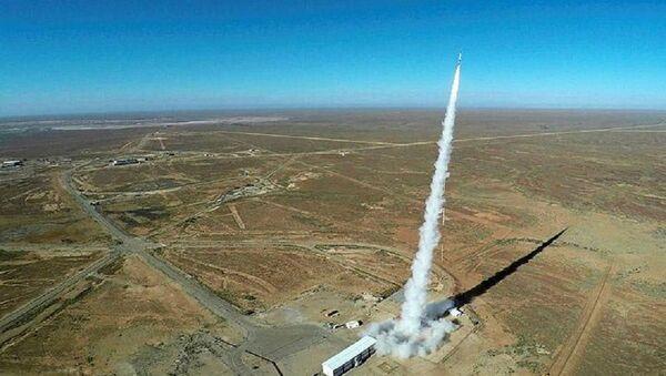 A rocket launch from RAAF Woomera, South Australia in 2017 - Sputnik International