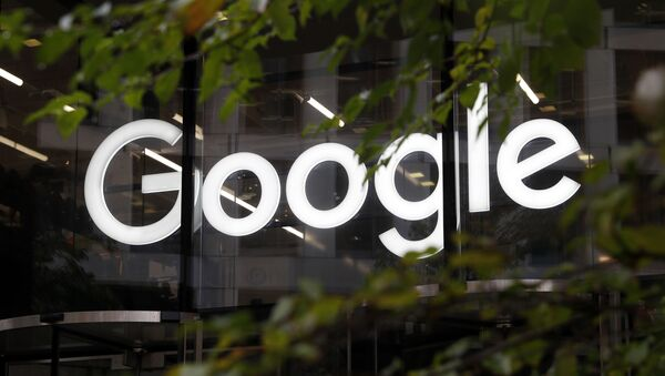 A photo of the Google logo at their offices in Granary Sqaure, London, Thursday Nov. 1, 2018. - Sputnik International