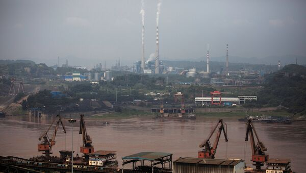 A general view of a dock for Chongqing Iron and Steel - Sputnik International