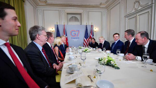 US President Donald Trump and Britain's Prime Minister Boris Johnson  - Sputnik International