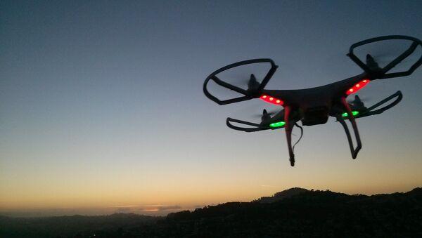 Drone landing at sunset - Sputnik International