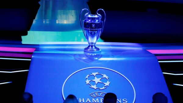 General view of the Champions League trophy on display before the Champions League Group Stage draw at Grimaldi Forum in Monaco on 29 August 2019 . - Sputnik International