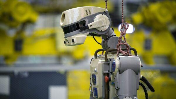 FEDOR the robot preparing for launch at the Baikonur cosmondrome in Kazakhstan. - Sputnik International