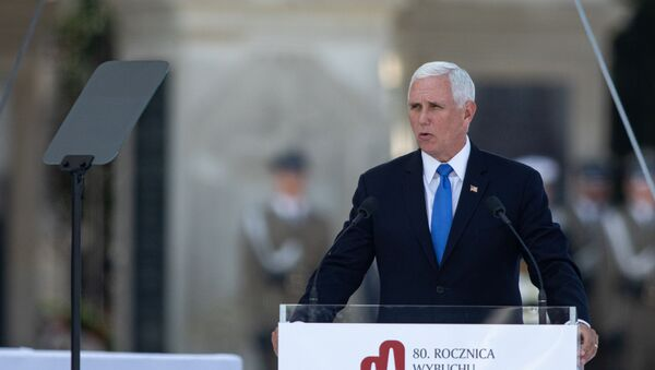 U.S. Vice President Mike Pence delivers a speech during a commemorative ceremony to mark the 80th anniversary of the outbreak of World War Two in Warsaw, Poland September 1, 2019.  - Sputnik International