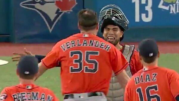 Houston Astros ace Justin Verlander tossed the third no-hitter on Sunday against the Toronto Blue Jays. - Sputnik International