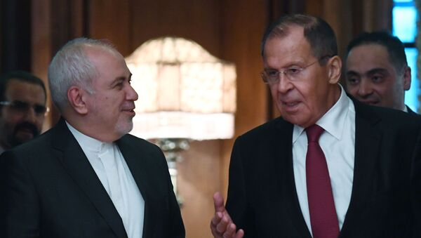 Russian Foreign Minister Sergei Lavrov (right) and Foreign Minister of the Islamic Republic of Iran Muhammad Javad Zarif during a meeting in Moscow - Sputnik International