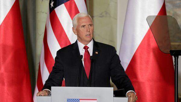 U.S. Vice President Mike Pence speak during a press conference in Warsaw, Poland September 2, 2019 - Sputnik International