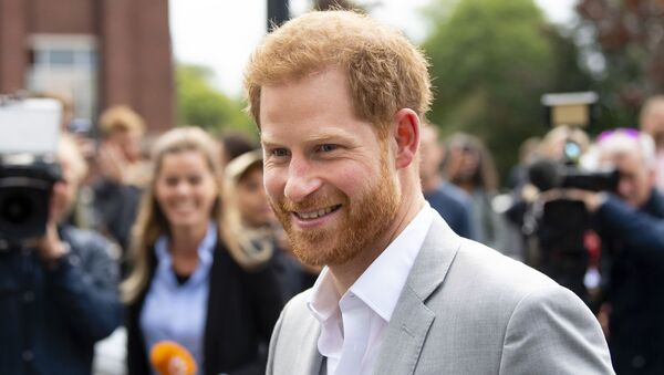 Prince Harry arrives at the ADAM Tower, in Amsterdam, on September 3, 2019, for the introduction of a project and global partnership between Booking.com, SkyScanner, CTrip, TripAdvisor and Visa, an initiative led by the Duke of Sussex to change the travel industry to better protect tourist destinations and communities that depend on it - Sputnik International