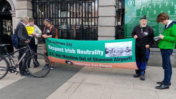 Protest in Dublin, Ireland against US Vice President Pence's visit  - Sputnik International