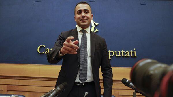 Leader of the 5-Star Movement, Luigi Di Maio, meets the media in Rome, Tuesday, Sept. 3, 2019 - Sputnik International