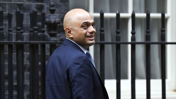 British Chancellor of the Exchequer Sajid Javid leaves11 Downing Street in London, Wednesday, Sept. 4, 2019 - Sputnik International