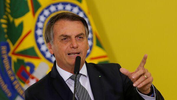 Brazil's President Jair Bolsonaro speaks during a ceremony at the Planalto Palace in Brasilia, Brazil September 3, 2019 - Sputnik International