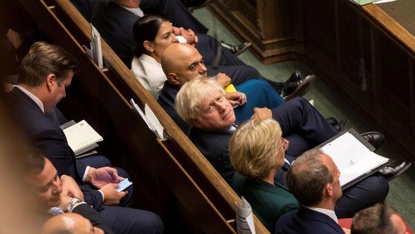 Britain's Prime Minister Boris Johnson looks on at the House of Commons in London, Britain September 3, 2019 - Sputnik International