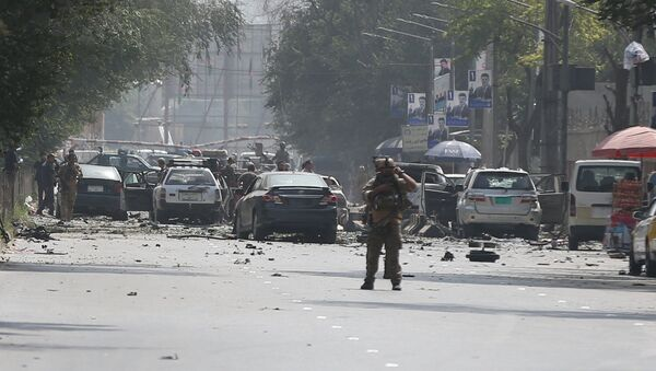 Damaged cars are seen at the site of a suicide attack in Kabul, Afghanistan September 5, 2019 - Sputnik International