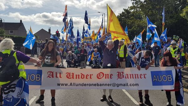 All Under One Banner represent a collection of a Scottish independence groups who have organised marches in Ayr, Aberdeen and Perth - Sputnik International