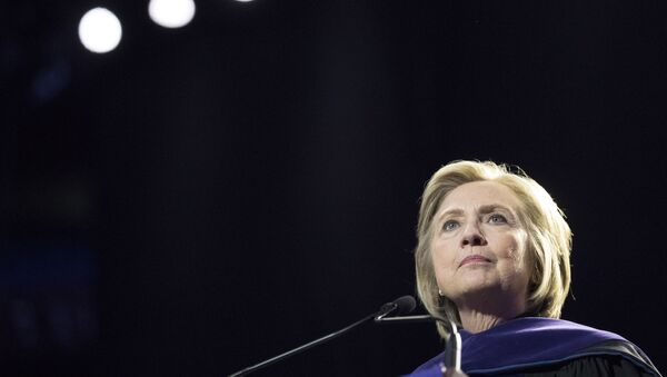 Former Secretary of State Hillary Clinton delivers Hunter College's commencement address, Wednesday, May 29, 2019, in New York. - Sputnik International