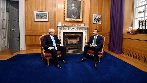 British Prime Minister Boris Johnson meets with Irish Taoiseach Leo Varadkar at the Government Buildings during his visit to Dublin, Ireland, 9 September 2019 - Sputnik International
