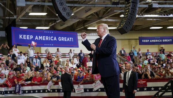 U.S. President Donald Trump holds a campaign rally in Fayetteville, North Carolina, U.S., September 9, 2019 - Sputnik International
