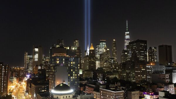 The Tribute in Light rises above the lower Manhattan skyline, Tuesday, Sept. 10, 2019 in New York. Wednesday marks the 18th anniversary of the terror attacks against the United States of Sept. 11, 2001 - Sputnik International
