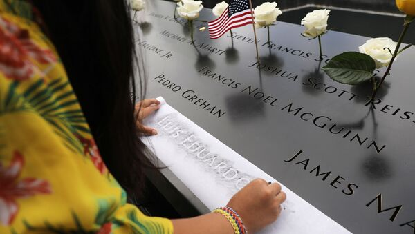 National September 11 Memorial during a morning commemoration ceremony for the victims of the terrorist attacks Eighteen years after the day on September 11, 2019 in New York City.  - Sputnik International