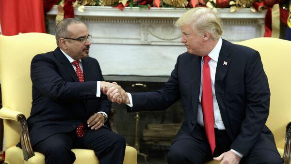 President Donald Trump meets with Bahrain's Crown Prince Salman bin Hamad Al Khalifa in the Oval Office of the White House - Sputnik International