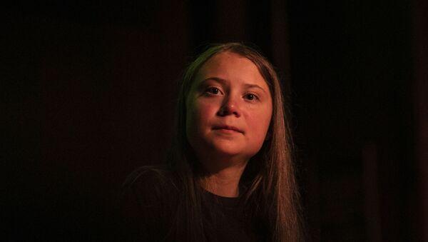 Greta Thunberg pauses as she speaks at the Society for Ethical Culture, Monday, Sept. 9, 2019 in New York - Sputnik International