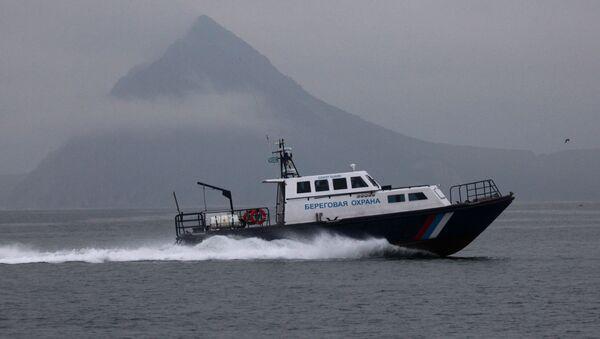 Primorye coast guard motorboat in the Sea of Japan - Sputnik International