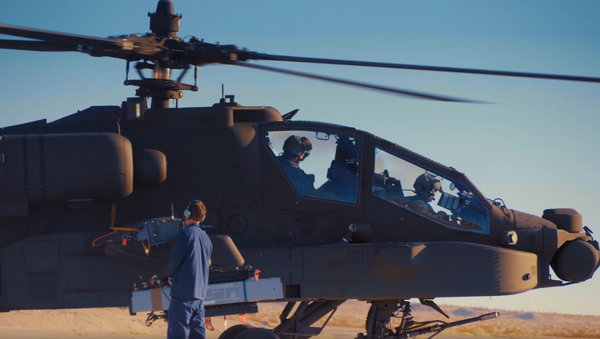 Army Future Command's Future Vertical Lift Cross-Functional Team tests  SPIKE Non-Line-Of-Sight missile on a US AH-64E Apache Attack Chopper (August 26-28, Yuma Proving Grounds, Arizona) - Sputnik International