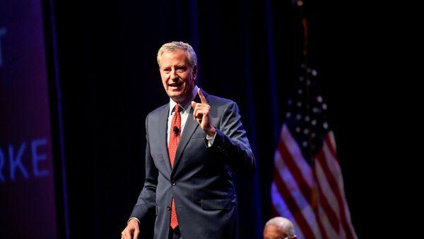 Democratic Presidential candidate New York City Mayor Bill de Blasio speaks during the AFL-CIO Workers Presidential Summit in Philadelphia, Pennsylvania, U.S., September 17, 2019 - Sputnik International